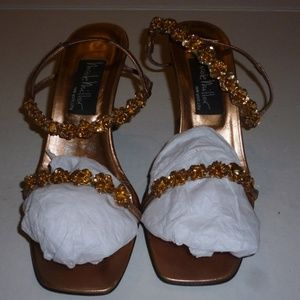Nicole Miller gold  shoes sz. 7